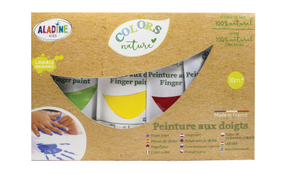 Set of natural finger paints in 4 colors image