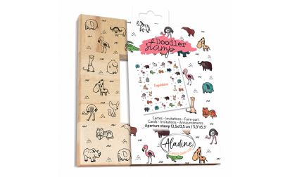 Doodler Stamp Big Animals Wood