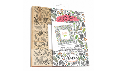Doodler Stamp Foliage Wood