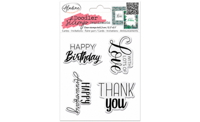 Doodler Stamp Sentiment 1 - Clear image