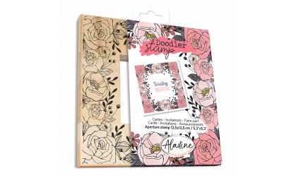 Doodler Stamp Floral Wood