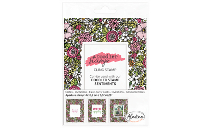 Doodler Stamp Flowers Cling