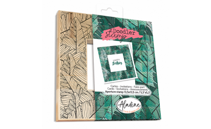 Doodler Stamp Big Leaves Wood