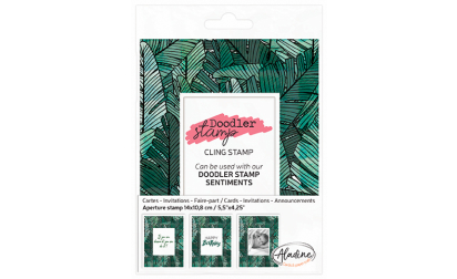 Doodler Stamp Big Leaves Cling