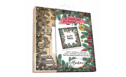 Doodler Stamp Christmas Wood