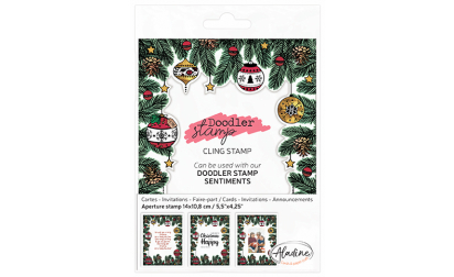 Doodler Stamp Christmas Cling image