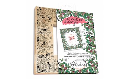 Doodler Stamp Christmas Holly Wood