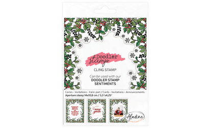 Doodler Stamp Christmas Holly Cling