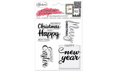 image de Doodler Stamp Sentiment 2 - Clear