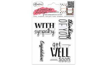 Doodler Stamp Sentiment 3 - Clear