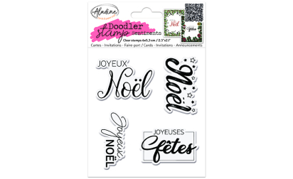 Doodler Stamp Sentiment 5 - Clear