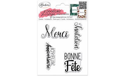 Doodler Stamp Sentiment 6 - Clear
