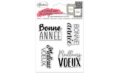 Doodler Stamp Sentiment 7 - Clear