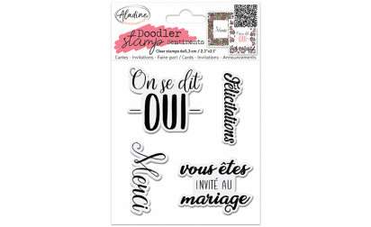 Doodler Stamp Sentiment 8 - Clear