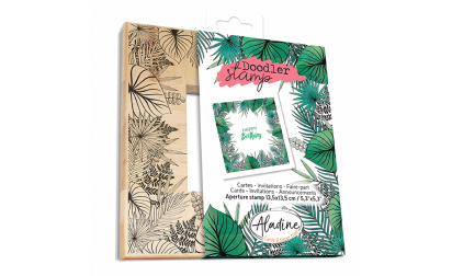Doodler Stamp Tropical Wood