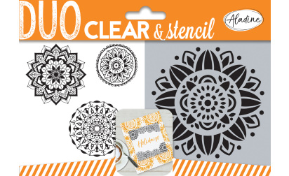 Duo clear & stencil - mandala