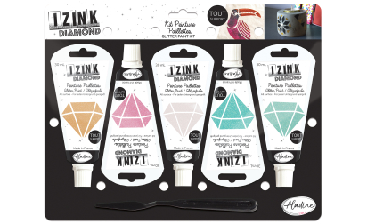 Kit 5 Izink Diamond Pastels