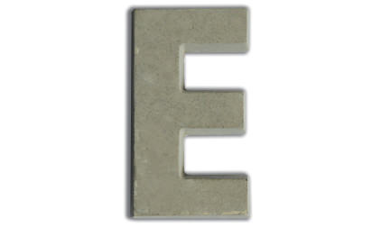 Concrete letters for customizing  image