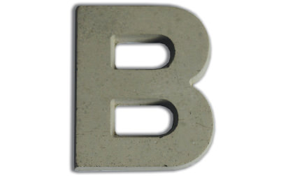 Concrete letters for customizing