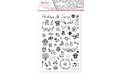 Stampo Bullet Journal Printemps