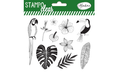 Stampo clear - tampons transparents -  jungle