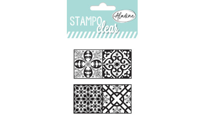 Stampo clear - tampons transparents - Carreaux ciment 2