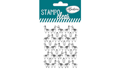 Stampo clear - tampon transparent all over - Lama 2