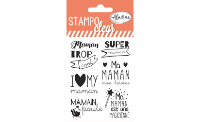 Stampo clear - tampons transparents - Maman