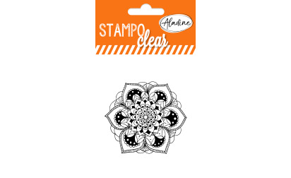 Stampo clear - tampon transparent - Mandala 1