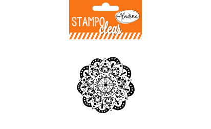 Stampo clear - tampon transparent - Mandala 2