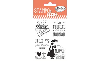 Stampo clear - tampons transparents - Nounou