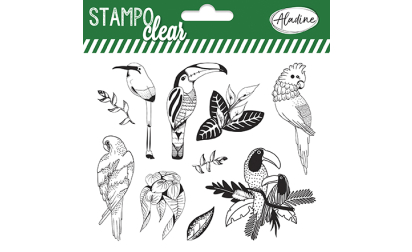 Stampo clear - Tampons transparents - Oiseaux tropicaux