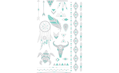 Stickers tatoo Ethnic turquoise
