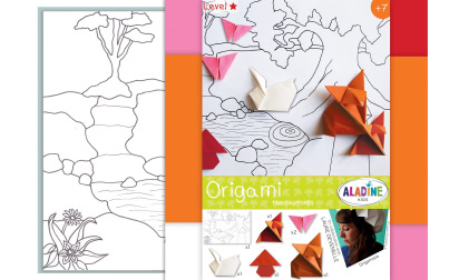 Tableau origami foret