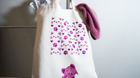 Tote Bag chat et Izink Diamond