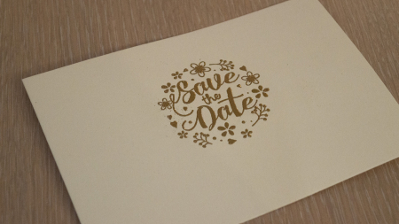 Gold embossed print