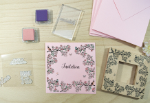 Carte invitation - Doodler Stamp et Stampo Clear