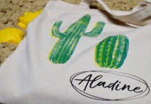 Izink Fabric dye Cactus bag