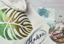 Izink Diamond Tote Bag Feuille tropicale